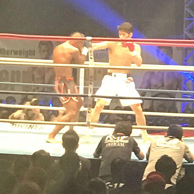 K-1スペシャルマッチ、功也選手が見事2ラウンドKOで勝利を飾りました!