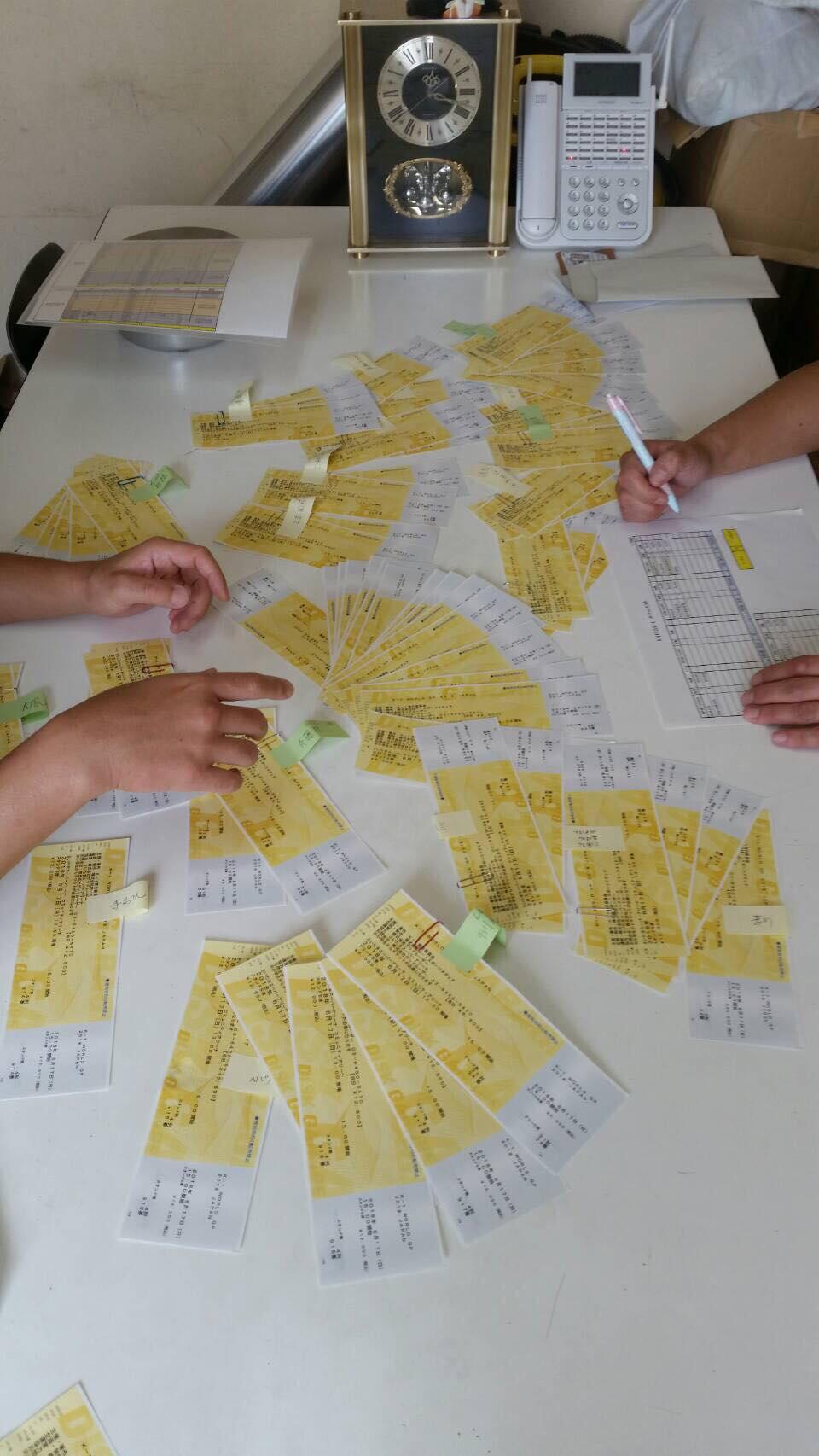 6月17日に行われるK-1のチケット割り振りを行いました!